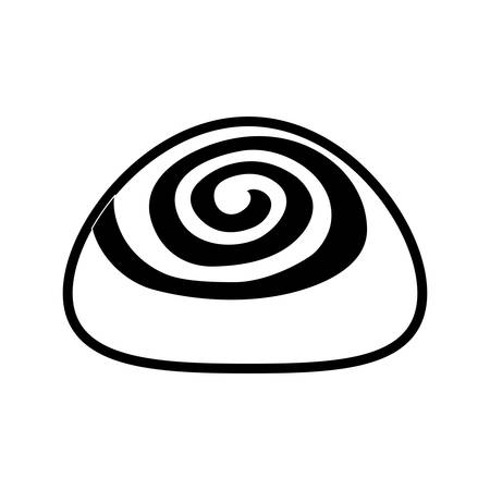 cinnamon roll icon over white background vector illustration