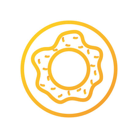 sweet donut icon over white background vector illustration Illustration