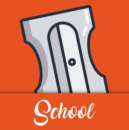 オレンジ色の背景のカラフルなデザインのベクトル図を削りアイコン  イラスト・ベクター素材