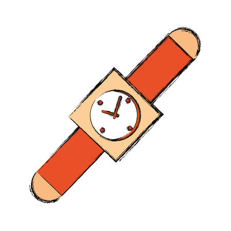 colorful smartwatch  over white  background vector  illustration