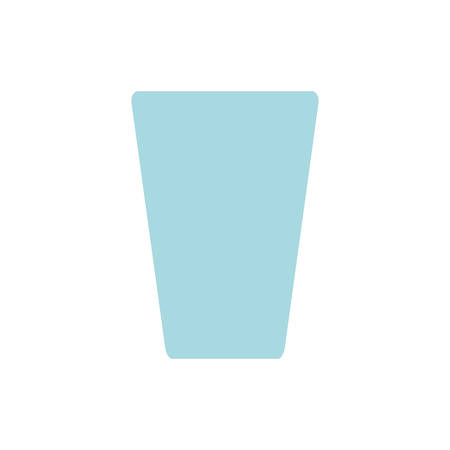 moncromatic glass over white background vector ilustration Çizim