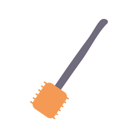 steel plate: colorful  spatula  over white background vector illustration