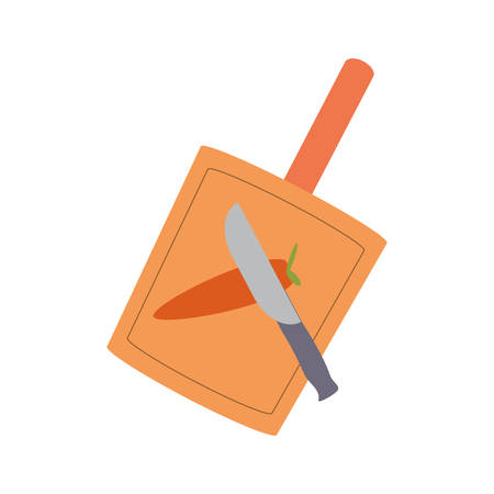 colorful cutting board  over white  background vector illustration