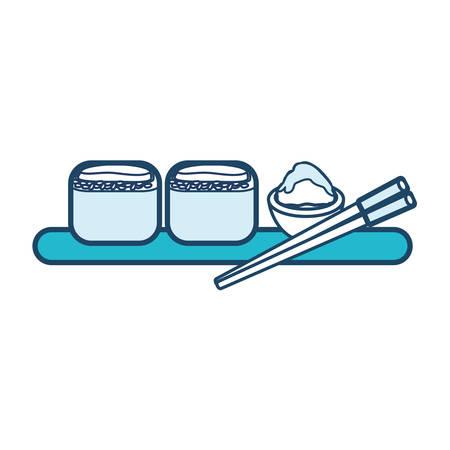 sushi icon over white background vector illustration Illustration