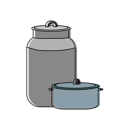Jug and pan icon