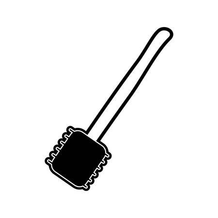 flat line monocromatic  spatula  over white  background vector illustration