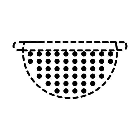 bowl drainer over white background vector illustration