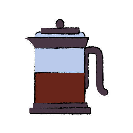 french press icon over white background vector illustration Illustration