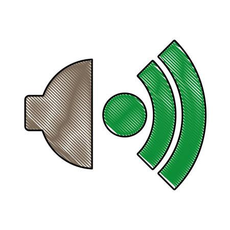 speaker icon over white background vector illustration