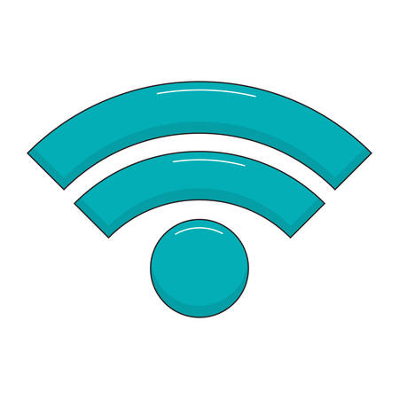 wifi sign icon over white background vector illustration Illustration
