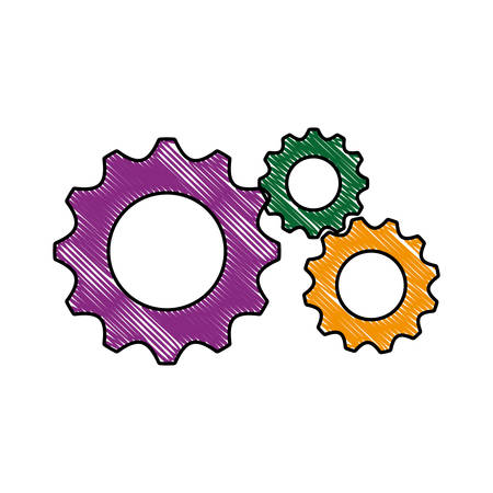 gears: gear wheels icon over white background vector illustration
