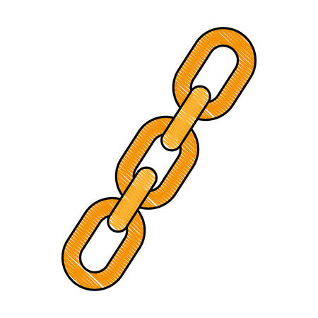 chain icon over white background vector illustration Illustration