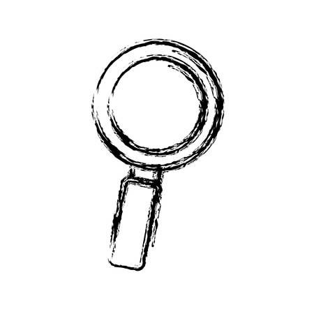details: magnifying glass icon over white background vector illustration