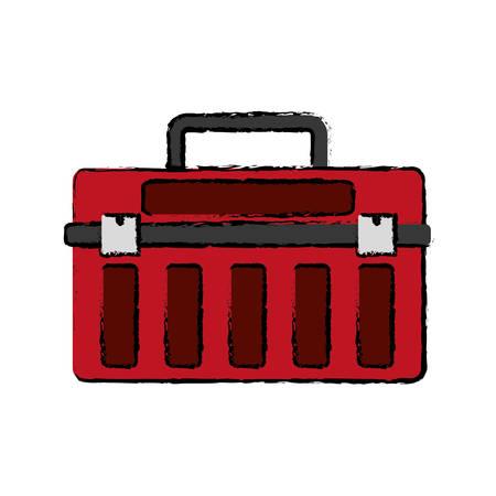 install: tool box icon over white background vector illustration Illustration