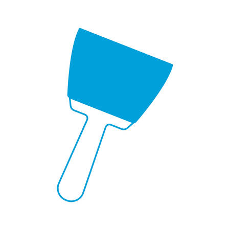 install: spatula tool icon over white background vector illustration