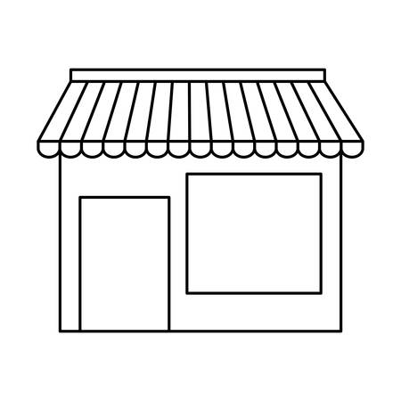 merchant: store icon over white background vector illustration Illustration