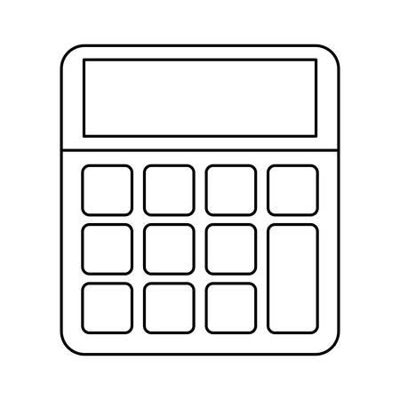mathematics: calculator icon over white background vector illustration