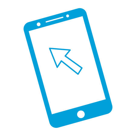 smartphone: smartphone device icon over white background vector illustration Illustration
