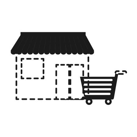 small business: store icon over white background vector illustration Illustration