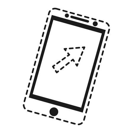 mobile device: smartphone device icon over white background vector illustration Illustration