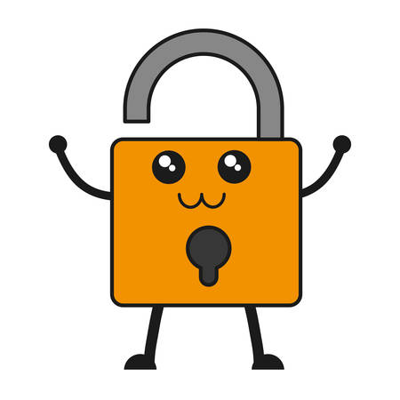 private security: security padlock icon over white background vector illustration