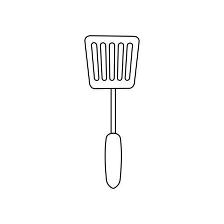spatula utensil icon over white background vector illustration Illustration