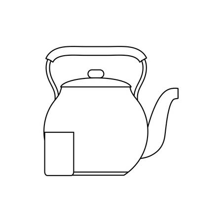 keettle icon over white background vector illustration