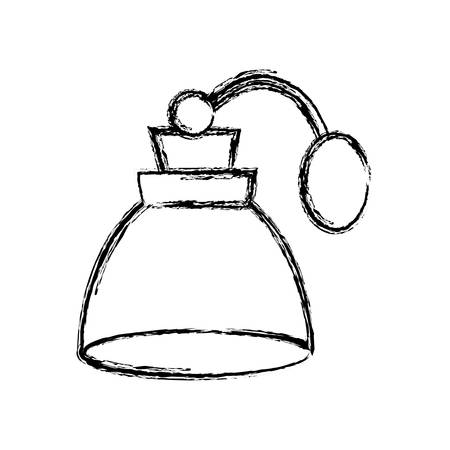 fragance bottle icon over white background vector illustration