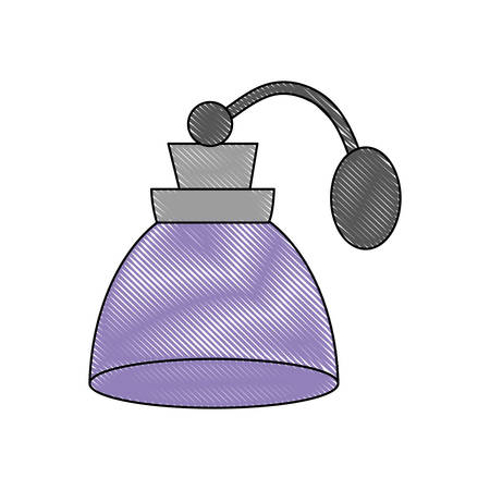 fragance bottle icon over white background colorful design vector illustration