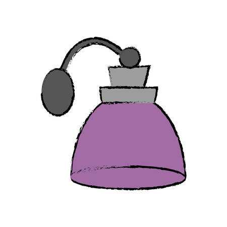 fragance bottle icon over white background colorful design vector illustration