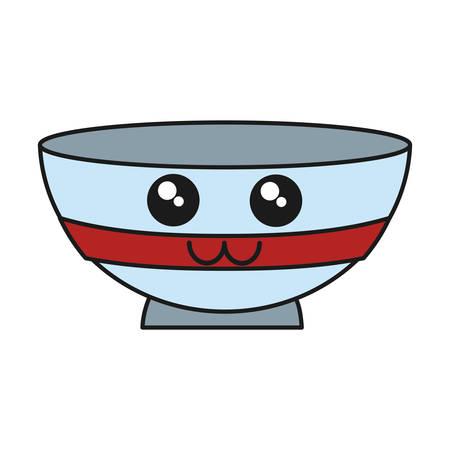bowl icon over white background vector illustration Illustration