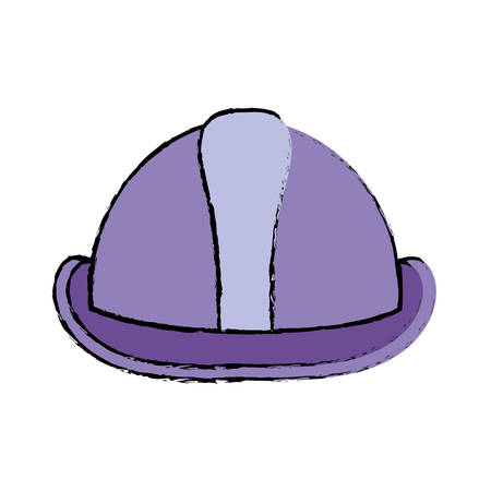 private security: safety helmet icon over white background vector illustration Illustration