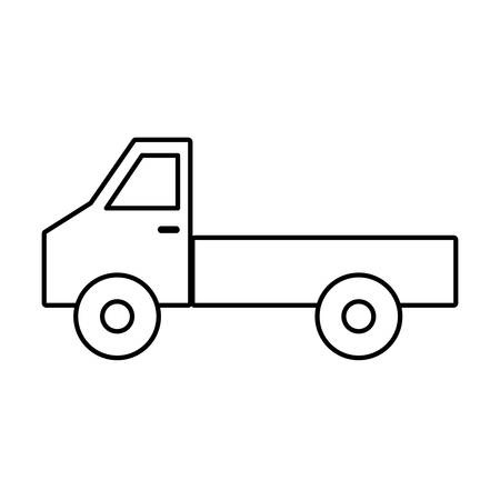 delivery service: Cargo truck icon. Illustration
