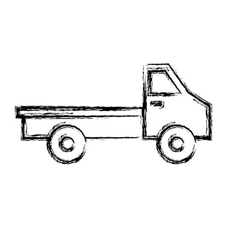 delivery service: Ccargo truck icon over white background vector illustration Illustration