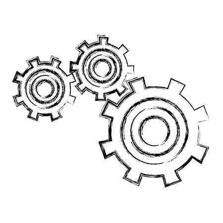 gears: Gear wheels icon over white background vector illustration Illustration