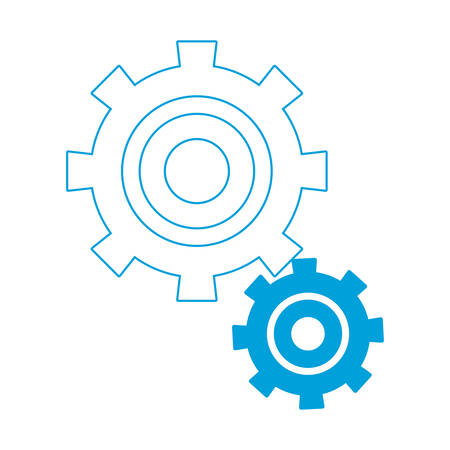 gears: Gear wheels icon over white background colorful design vector illustration Illustration