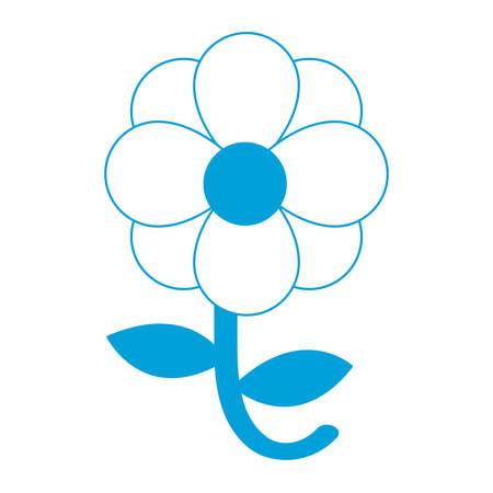 details: Beautiful flower icon over white background vector illustration Illustration