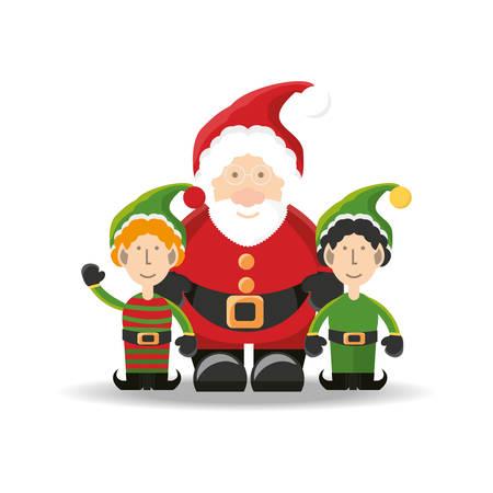 Kerstman van Vrolijke het thema Vectorillustratie van het Kerstmisthema