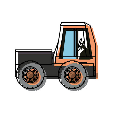 heavy industry: construction truck icon over white background vector illustration