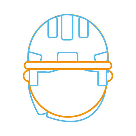 private security: Man with safety helmet icon.