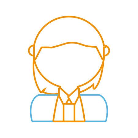 avatar businessman icon over white background vector illustration