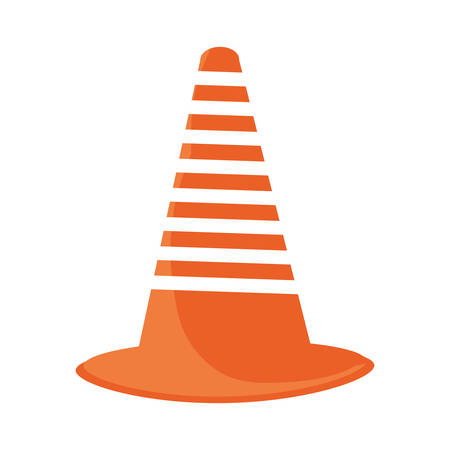 colorful trafic cone  over white  background vector illustration