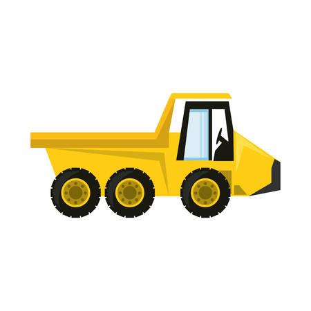 colorful truck rocker over white background  vector illustration