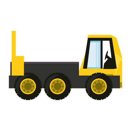 automotive industry: Colorful  truck rocker over white background  vector illustration.