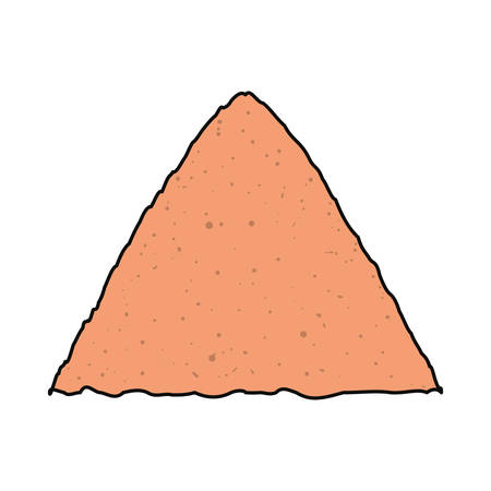 Flat line  colored  construction sand. Vettoriali