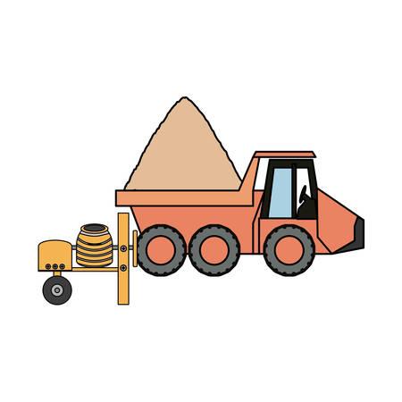shaft: Flat line colored truck rocker. Illustration