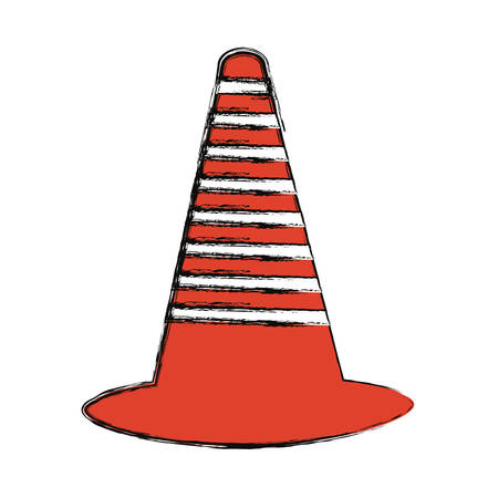 Traffic cone icon over white background vector illustration Illustration