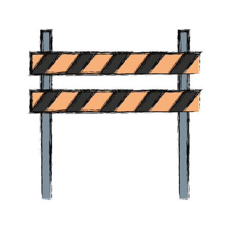 barrier: Warning barrier icon. Illustration