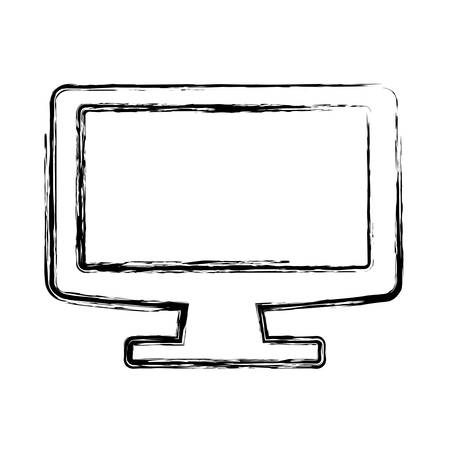 Modern tv technology icon vector illustration graphic design Stok Fotoğraf - 86277492