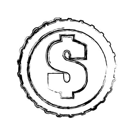 Money coin isolated icon vector illustration graphic design Illustration